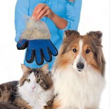 Pet Grooming Dogs Cats Bath Massage True Glove Touch  Soft  Efficient Blue