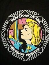 Vintage St. Saint Joan of the Ark Freedom Fighter America 90's  T Shirt L