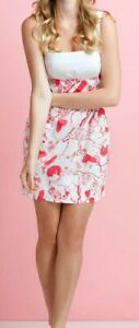 Woman LILLY PULITZER white Red Yesenia Spin The Bottle Sleeveless Dress Sz 0