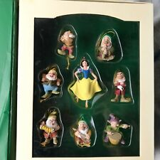 Disney Storybook Christmas Ornament Set Snow White & Seven Dwarfs In Book Box