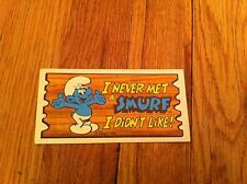 1982 I Never Met A Smurf I Didn't Like Oversize Trading Card Supercards #34 RARE