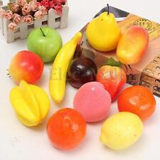 12Pcs/Set Lifelike Plastic Fruit Model Kitchen Realistic Fake Food Display Decor