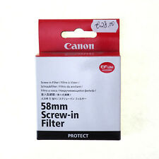Canon 58mm Screw - IN Filter UV Protector Lens