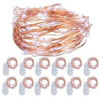 12x 2M Copper Wire Lights LED String Light Strip Waterproof Fairy Lighting CW