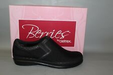 Women's Aetrex Black Slip on Size 7 Stretch Fabric/Leather Comfortable Shoes