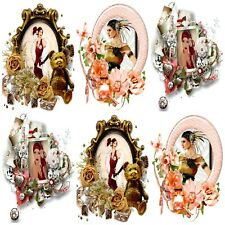 COPPER HUES ART DECO  Card Making Toppers, Card Toppers (12)