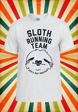 Sloth Running Team Novelty Cool Men Women Vest Tank Top Unisex T Shirt 1125
