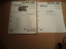 Sony Service Manual~CCD-TR101/ TR805 Camera Recorder~Original - Manual ONLY