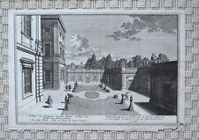 Vue d'optique XVIIIème - Entrée Secrète du Jardin de Versailles