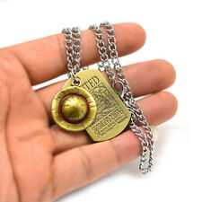 Anime Necklace One Piece Luffy Straw Hat Pendant Necklace Jewelry Accessories