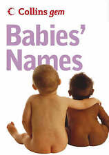 Collins Gem - Babies' Names, Julia Cresswell, Very Good condition, Book