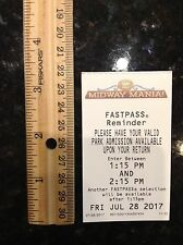 DISNEYLAND CALIFORNIA ADVENTURE MIDWAY MANIA TOY STORY FASTPASS FAST PASS