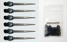 3-6-9-30 Steeldartspitzen Wechselspitzen Spitzen points soft darts steel silber