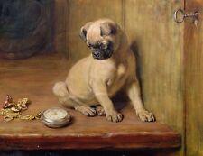 Briton RIVIERE tick tick 1881 Pug Dog & Pocket Watch 10x8 inch Print