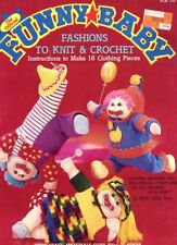"Funny Baby Fashions to Knit & Crochet PATTERN for 18"" Doll -30 Days To Pay!"