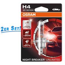 H4 Osram 12v Nightbreaker Night Breaker Unlimited +110% more light 2st. 64193nbu