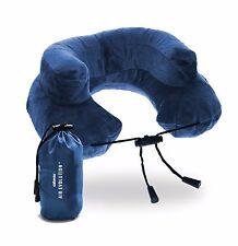 Cabeau Premium Blue Inflatable Air Evolution Travel Neck Pillow + Pouch + Cover