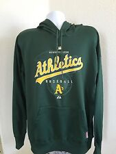 Majestic Athletics Baseball A's men's XL jacket hoodie Green Therma base