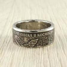 Gagarin Coin Ring Handmade Unique Vintage The First Man in Space Yuri
