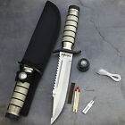 9.5' SURVIVAL COMBAT TACTICAL HUNTING KNIFE w/ SHEATH Military Bowie Fixed Blade