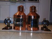 Large original Dutch Port and Starboard navigation lanterns
