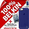 New Belkin Shield Sheer Matte Hard Case Cover Blue for fits Apple iPhone 5 5S SE