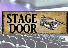 Entrée Des Artistes Reproduction Vintage rétro Signe Théâtre