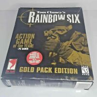 Tom Clancy Rainbow Six Gold Pack Edition PC CD-ROM Game BIG BOX Strategy Guide
