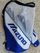 MIZUNO Staff Bag Rain Hood Golf Club Protector Blue White Clear Zippered
