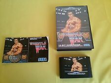 WRESTLE WAR Videogioco SEGA MEGA DRIVE Manuale Game Cartridge Box CIB TESTATO !