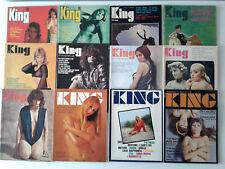KING - rivista erotica vintage - lotto 12 numeri 1967/1969/1970