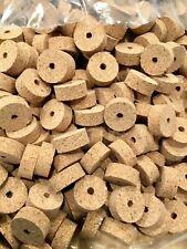 "Cork Rings 36 Natural Superior Burl 1 1/4"" X 1/2"" X 1/4"" Hole"