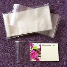 50 Clear Small cellophane self-seal Florist Envelopes 10cm X 7cm