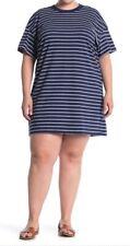 Madewell NWT Women's Tina Stripe T-Shirt Dress Sand Dune Cotton Size Large