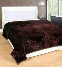 Blankets Solid Colour Ultra Soft Floral Single Bed Heavy Mink Winter Blanket