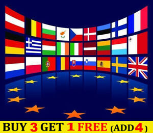 67 EUROPE UK US ASIA NATIONAL FLAG SEW EMBROIDERED PATCH SHOULDER FLASH BADGE