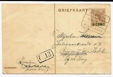 Tramblokstempel Domburg - Middelburg A Domburg 1927 naar Rijswijk