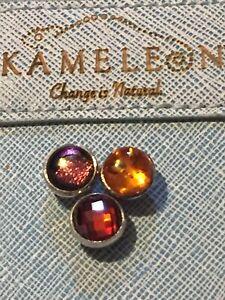 Authentic Kameleon Jewelpop Jewel Pop Lot With Compact Interchangeable Jewelry