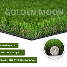GOLDEN MOON 3x6ft  Artificial Grass Turf 1.57 Pile Height 5-Tone Realistic Color