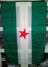 Bandera Andalucía independentista estrella roja nueva