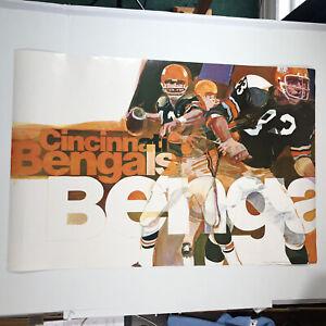 "VINTAGE NFL Cincinnati Bengals 1970 NFL GEORGE BARTELL POSTER 36""x24"""