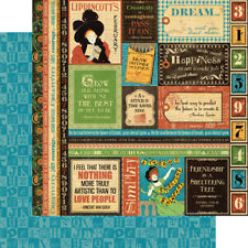 Graphic 45 2 sheets, Typography Collection, Dream 12 x 12 papers
