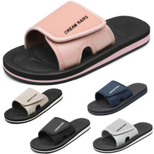 DREAM PAIRS Women Slides Sport Athletic Comfort Slip on Summer Outdoor Sandals