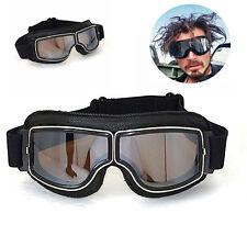 Bikebrille Fliegerbrille Schutzbrille PU Leder Motorradbrille für Honda Harley