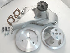 BB Chevy BBC Aluminum Short Water Pump & 1 Groove Pulley Kit W/ Bolts & Gaskets