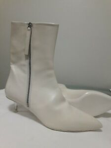 1055$ JIL SANDER WOMEN'S LEATHER BOOTIES WITH ZIP SZ:US 9,5 / 40IT MADE IN ITALY