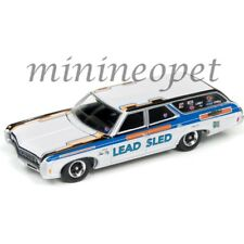 AUTOWORLD AW64142-24A 1969 CHEVROLET KINGSWOOD ESTATE LEAD SLED 1/64 WHITE