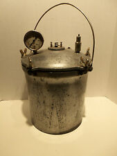 Vintage National Fairy 14 Quart Steam Pressure Cooker Canner w Gauge Bolts RARE