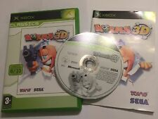 ORIGINAL XBOX GAME WORMS 3D +BOX & INSTRUCTIONS COMPLETE PAL