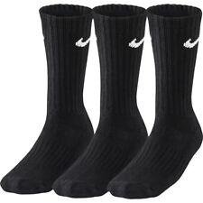 Nike Socks Value Crew Black 3 Pack UK 13 - 16